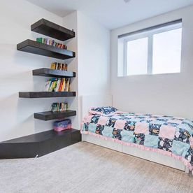 Bookshelves bedroom